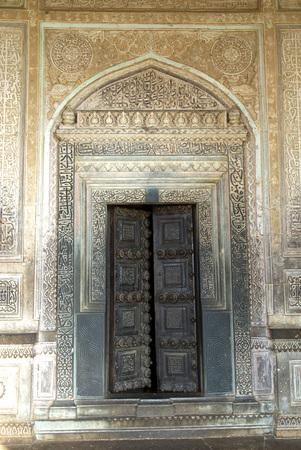 Door of Ibrahim-Rauza built by Ibrahim Adil Shah II in Bijapur,Karnataka,India