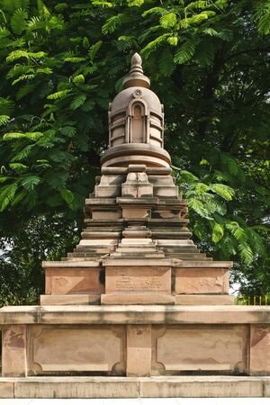cremated: Ven Ble Devamitta Dharmapala Anagarika Dharmapala founder of Mahabodhi society cremated hear Sarnath near Varanasi,Uttar Pradesh,India LANG_EVOIMAGES