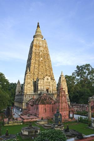 Mahabodhi temple,Bodhgaya,Bihar,India Unesco World Heritage Stock Photo