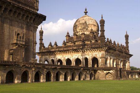 Ibrahim-Rauza built by Ibrahim Adil Shah II in Bijapur,Karnataka,India Stok Fotoğraf