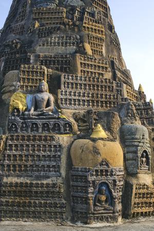 Statues of Buddha at Mahabodhi temple,Bodhgaya,Bihar,India Unesco World Heritage