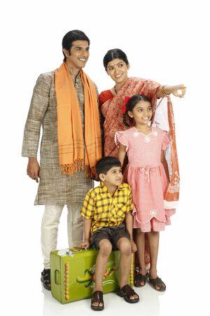 Rich Indian farmer family