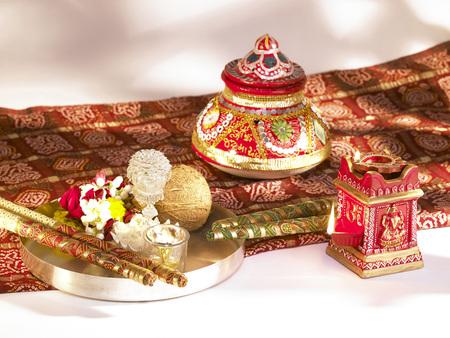 Diya dandiyas earthen pot for Dassera festival