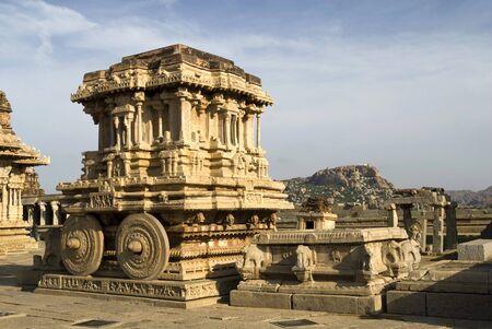 Stone chariot in Hampi,Karnataka,India