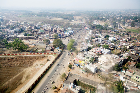 Ariel view of Ranchi capital of Jharkhand,India