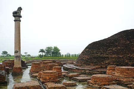 Ashoka pillar,Kolhua,Vaishali,Bihar,India