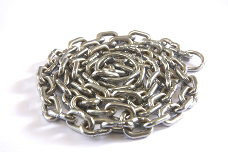 Concept,janjer chain in round shape on white background Stock Photo