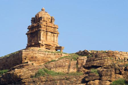 Lower Shivalaya temple in north fort in Badami,Karnataka,India