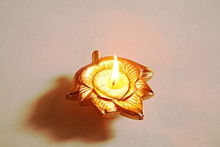 Indian festival Dipawali or diwali celebration diya clay oil lamp on white background,Bombay Mumbai,Maharashtra,India