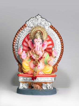 God Ganpati Ganpati creator mounted on big rat on procession of Ganesh chaturthi