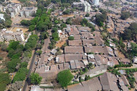 Aerial view of parel  slum,Bombay Mumbai,Maharashtra,India