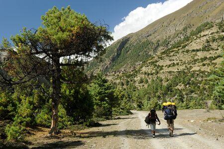 Trekkers,Pisang,Nepal