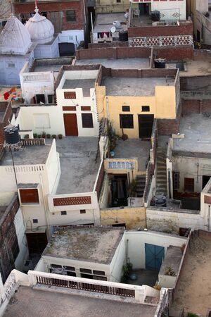 Aerial view of Baba Bakala city in Amritsar,Punjab,India