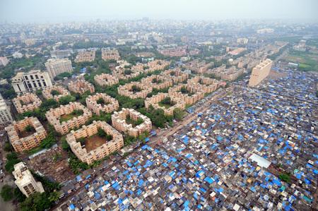 aerial view of government colony,Bandra Khar,Bombay Mumbai,Maharashtra,India