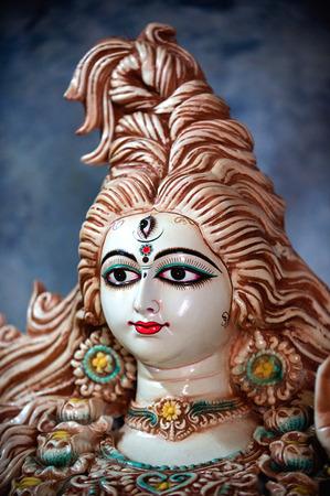 Goddess durga idol on durga puja festival,Kumartuli,Calcutta Kolkata,West Bengal,India