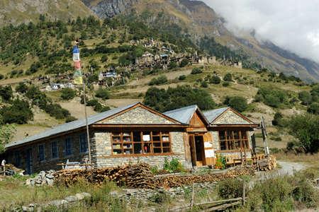 Hotel at Upper Pisang,Nepal