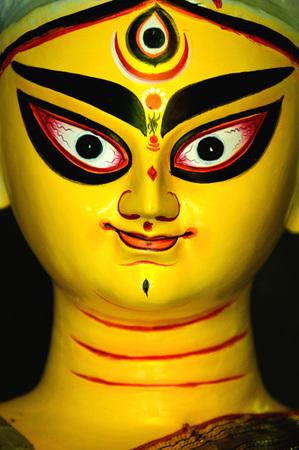 Goddess durga idol,Kumartuli,Calcutta Kolkata,West Bengal,India Stock Photo
