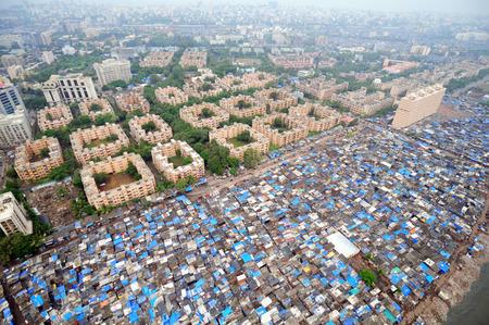 aerial view of government colony,Bandra Khar,Bombay Mumbai,Maharashtra,India Stock Photo