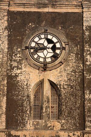 Broken clock at clock tower of Bhadra fort in 1411 AD,Ahmedabad,Gujarat,India