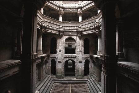Adalaj step well or vav built in 1499 AD by Queen Radhabai of Ahmedabad,Gujarat,India