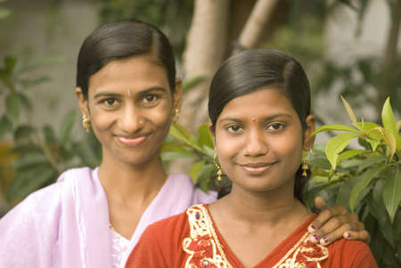fifteen year old: Fifteen and twenty three year old sisters,Parli,Vaijanath,Beed,Maharashtra,India LANG_EVOIMAGES