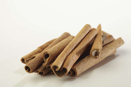 Spices,cassia dalchini cinnamon cinnamomus cassia on white background Stock Photo