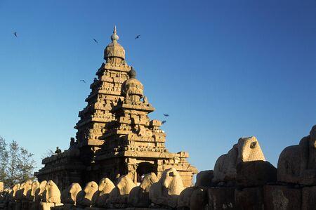 Shore temple,Mahabalipuram Mamallapuram,Tamil Nadu,India Stock Photo