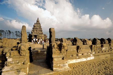 Shore temple,Mahabalipuram Mamallapuram,Tamil Nadu,India