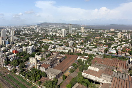 Aerial view of dadar with wadala and matunga,Bombay Mumbai,Maharashtra,India