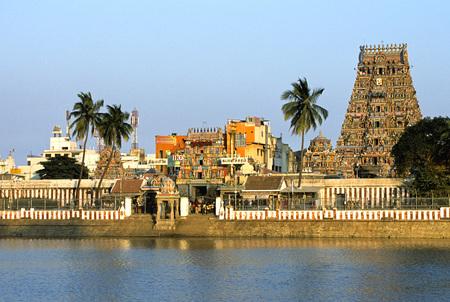 Kapaleeswarar temple with tank at Mylapore,Madras Chennai,Tamil Nadu,India
