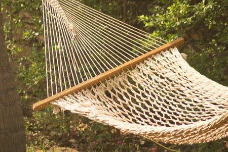 Concept,Charleston rope hammock swing in garden at one of resort Raigad,Maharashtra,India