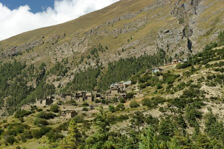 Upper Pisang,Nepal Stock Photo