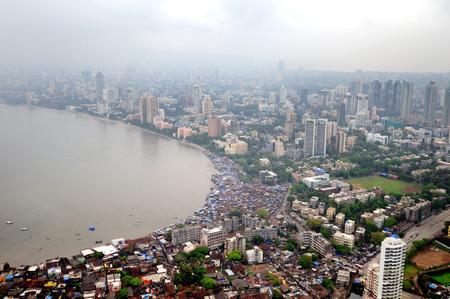 aerial view of worli,Bombay Mumbai,Maharashtra,India