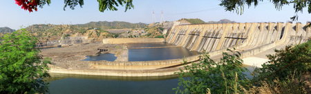 Narmada river dam in kevadia colony,Gujarat,India