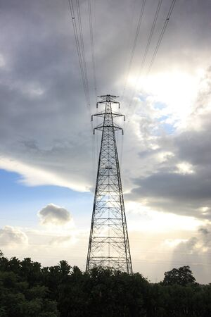 Transmission tower at kevadia colony,Gujarat,India