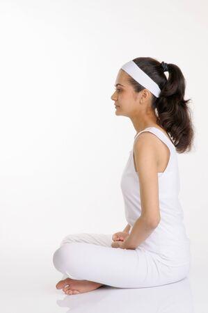 Portrait of a girl doing her meditation,Pune,Maharashtra,India