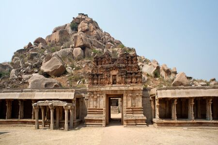 Achyutaraya temple and matanga hill at hampi,Karnataka,India