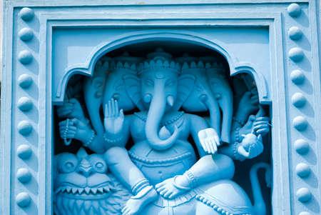 gods: God ganesh statues on ganpati temple at Channakesava temple,Vijayanarayana temple,Belur,Hassan,Karnataka,India