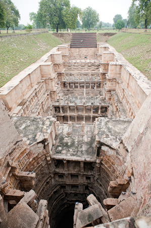 Well at queens stepwell,Patan,Gujarat,India