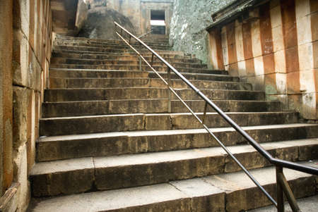 Steps going upwards to Shravanabelagola,Hassan,Karnataka,India