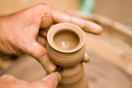 Pottery making at kalaghoda festival,Bombay,Mumbai,Maharashtra,India Stock Photo