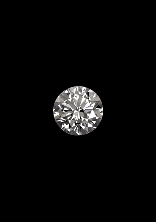 Diamond on black background Reklamní fotografie
