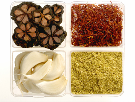Spices mangosteen saffron garlic coriander powder,India