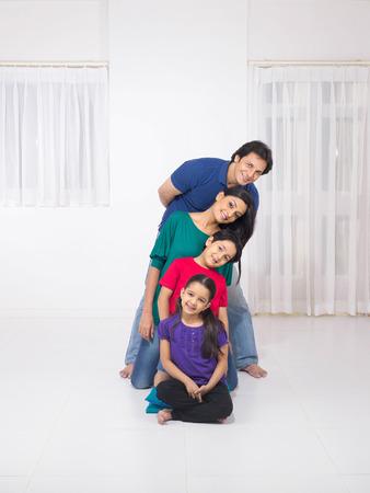 Family of four Stok Fotoğraf