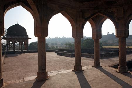 バズ ・ バハドゥール ・ パレス、マーンドゥー、ダール、マディヤ ・ プラデーシュ州、インド 写真素材
