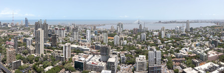 Aerial view of dadar,Bombay,Mumbai,Maharashtra,India LANG_EVOIMAGES