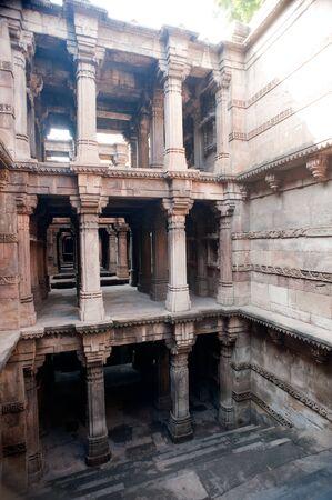 Dadahari vav step well,Ahmedabad,Gujarat,India Foto de archivo