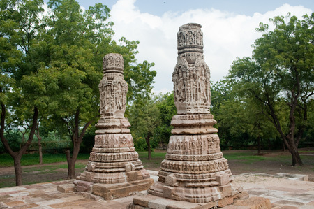Torana gateway at sun temple in modhera,Mehsana,Gujarat,India Stock Photo