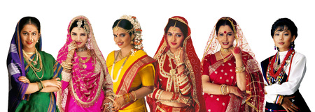 Various region brides in traditional wearing