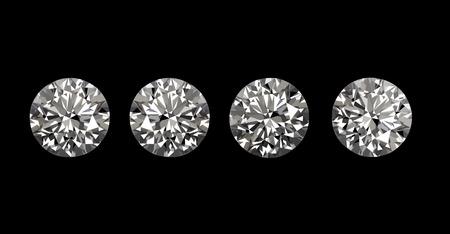 黒の背景にダイヤモンド